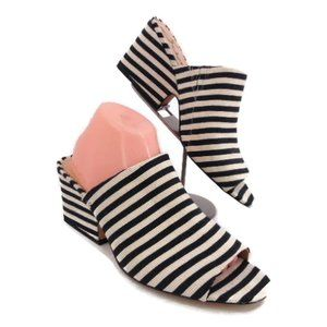 Sam Edelman Rheta Mules in Black Ivory Stripe Mule